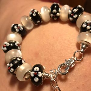 Jewelry - Murano beads on Sterling silver bracelet